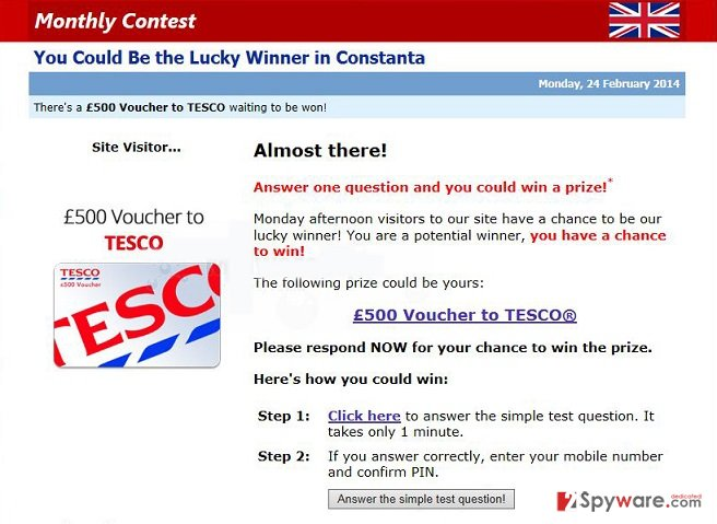 Alert.MyContestWinnerzs.eu pop-up ads snapshot