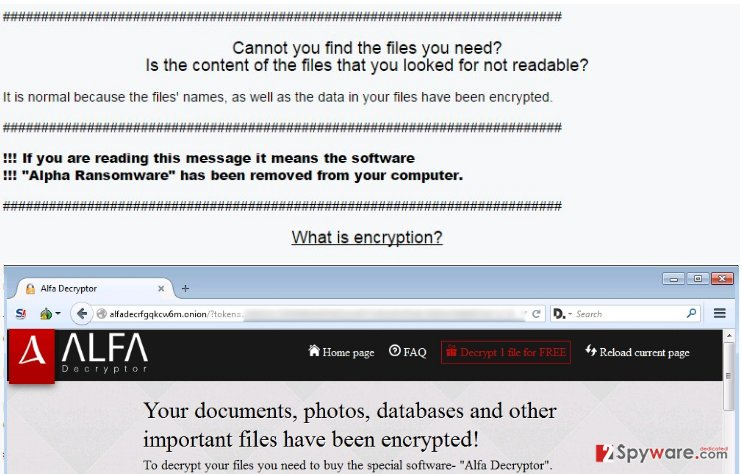 An illustration of ALFA ransomware