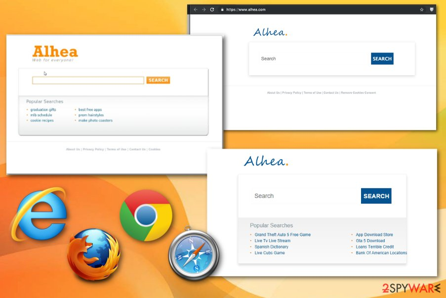 Alhea browser hijacker
