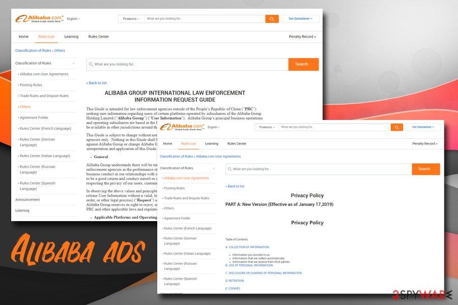 Offer.alibaba.com policies