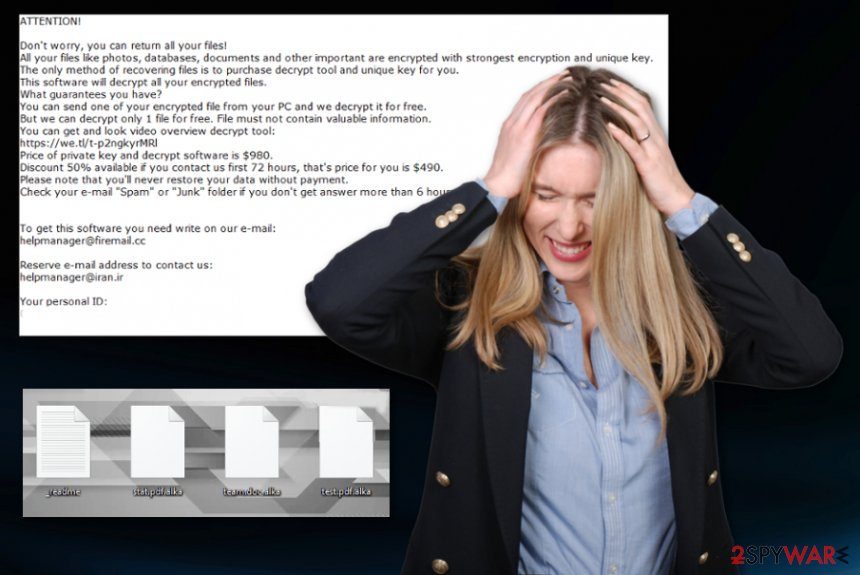 Alka ransomware virus