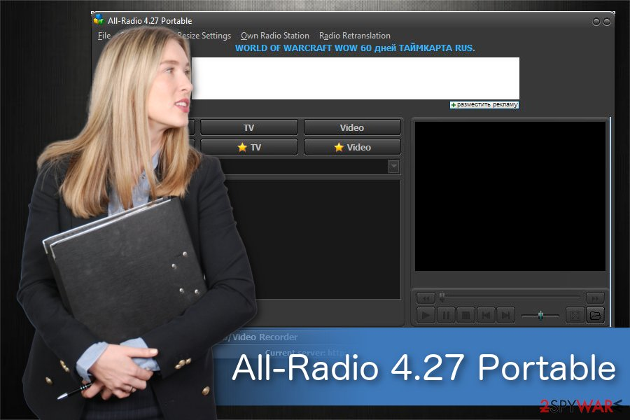 All-Radio 4.27 Portable malware illustration