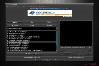 All-Radio 4.27 Portable malware image