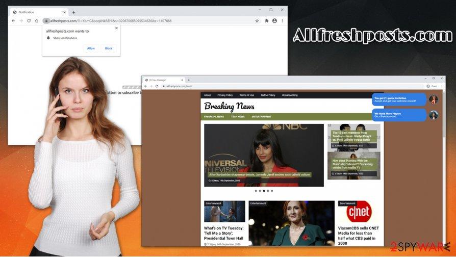 Allfreshposts.com popups