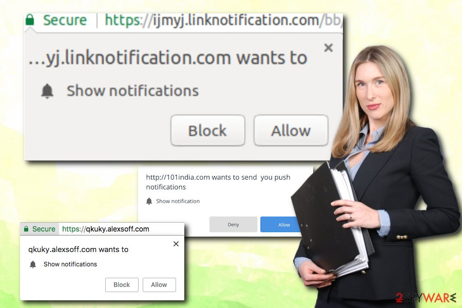 Allow Website Notifications virus