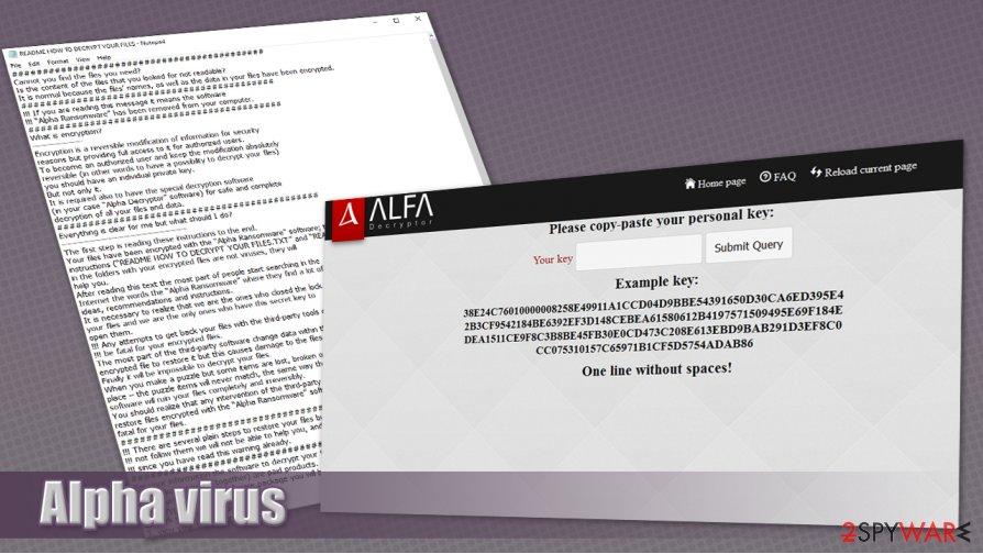 Alpha virus - Alfa ransomware