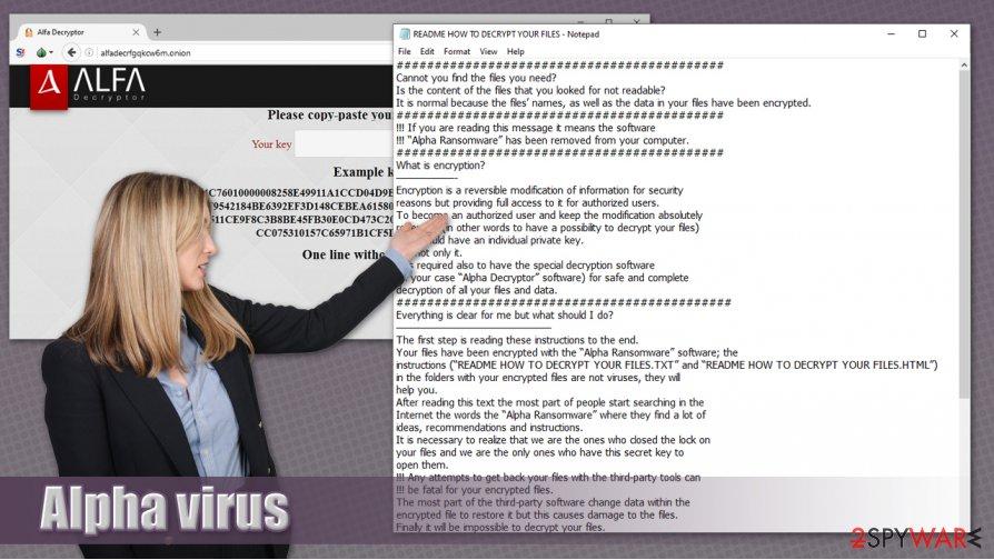 Alpha ransomware virus