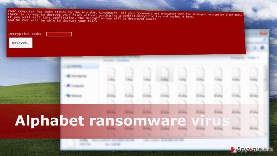 The image of Alphabet ransomware virus
