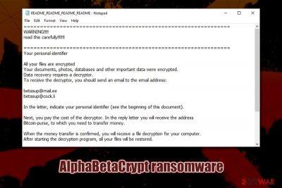 AlphaBetaCrypt ransomware