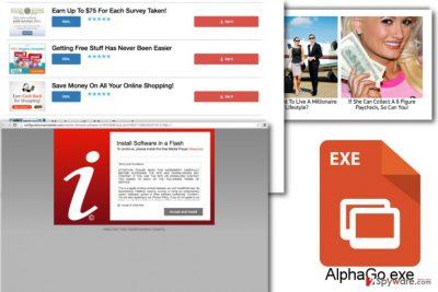 Examples of AlphaGo ads