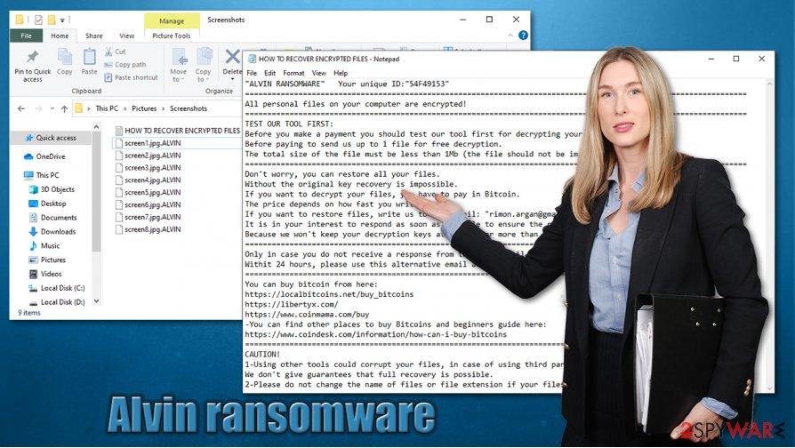 Alvin ransomware virus