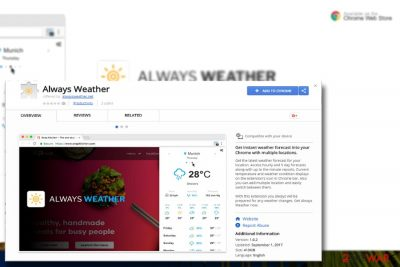 The image displaying Always Weather plug-in