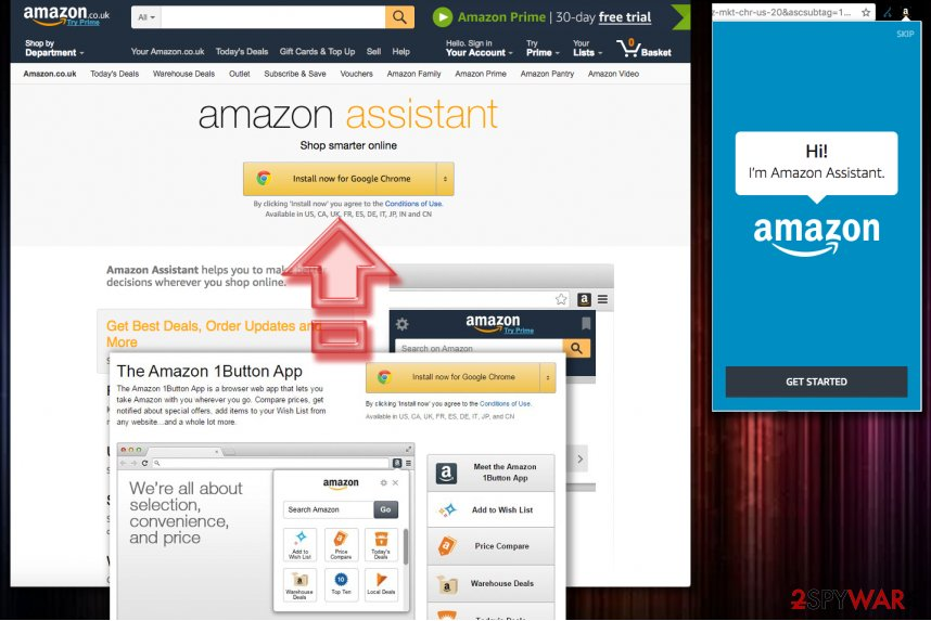 Amazon 1 Button App virus