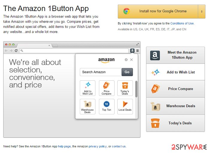 Amazon 1Button App ads