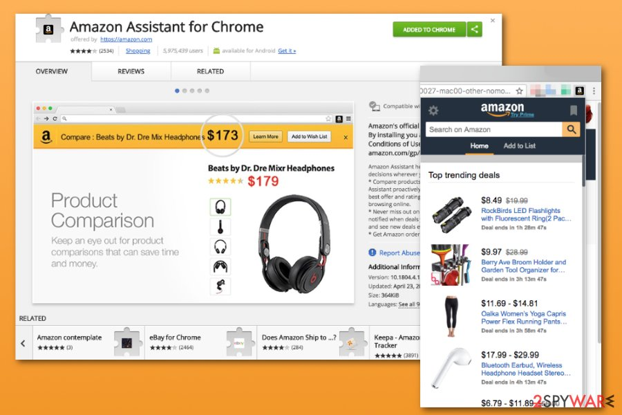 chrome extension amazon