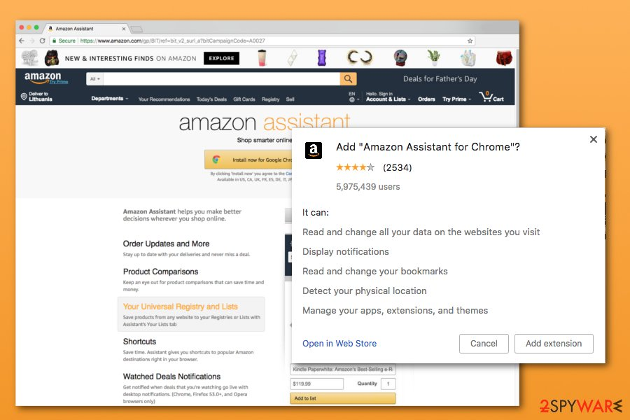 amazon assistant chrome extension