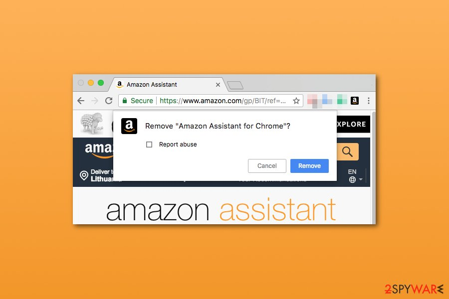 Amazon Assistant removal