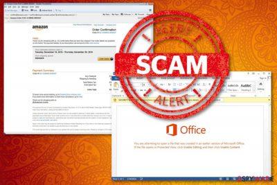 Amazon order confirmation scam