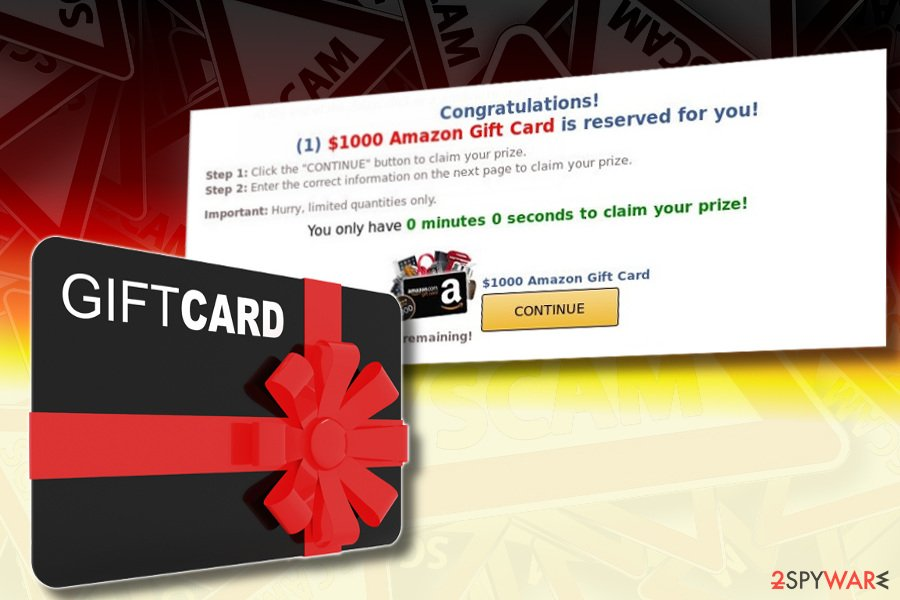 $1000 Amazon Gift Card scam