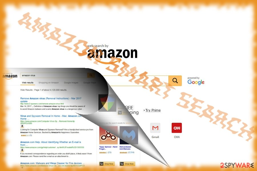 The picture illustrating Amazon Smart Search search engine