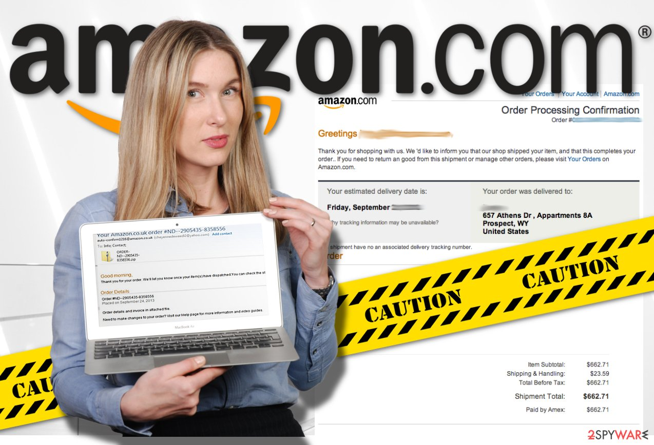 Image displaying Amazon virus