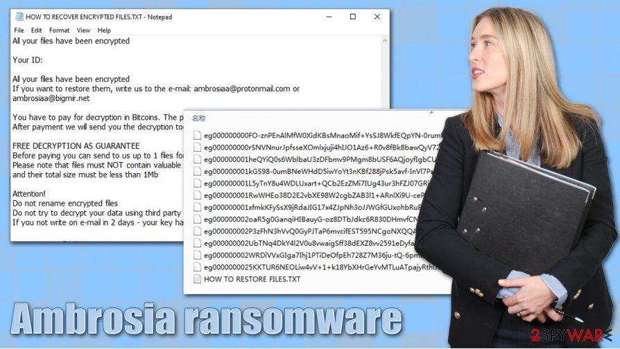 Ambrosia ransomware virus