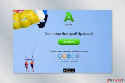 Screenshot of Amigo website