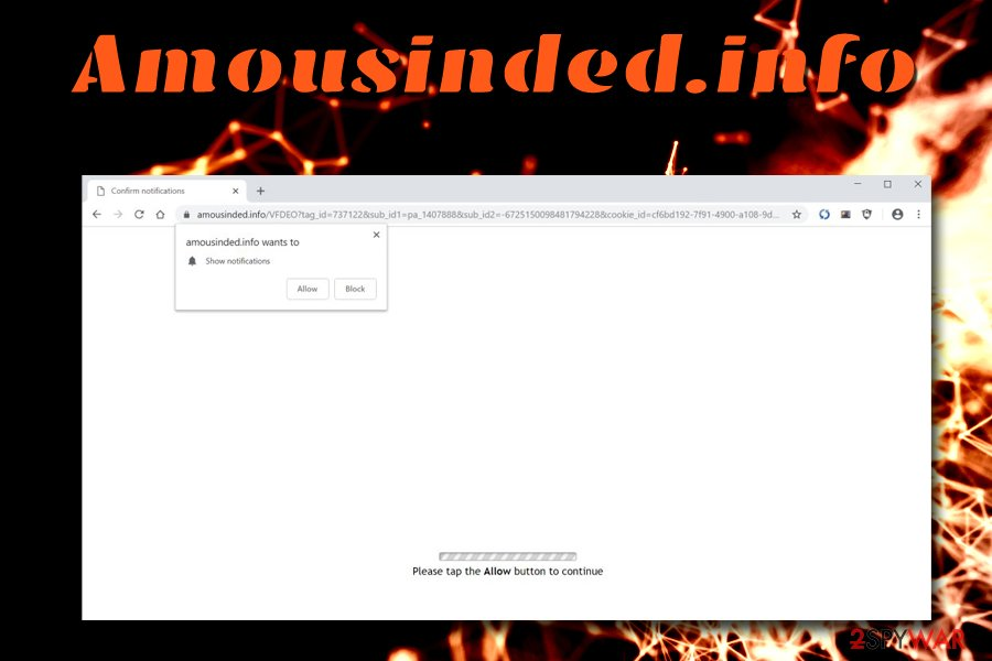 Amousinded.info virus