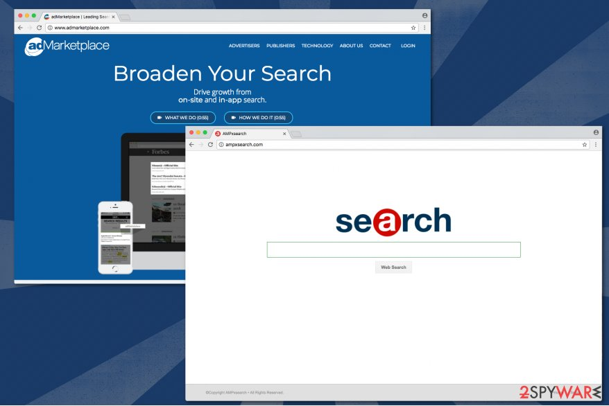 Image of Ampxsearch.com virus