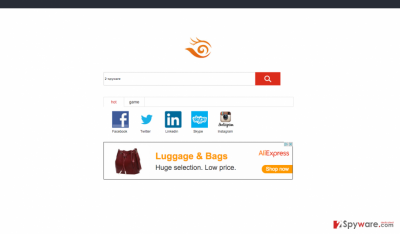 An example of Piesearch.com browser hijacker