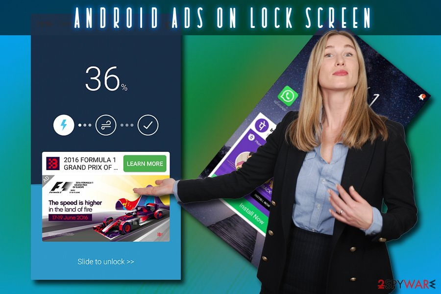 Android ads on lock screen virus