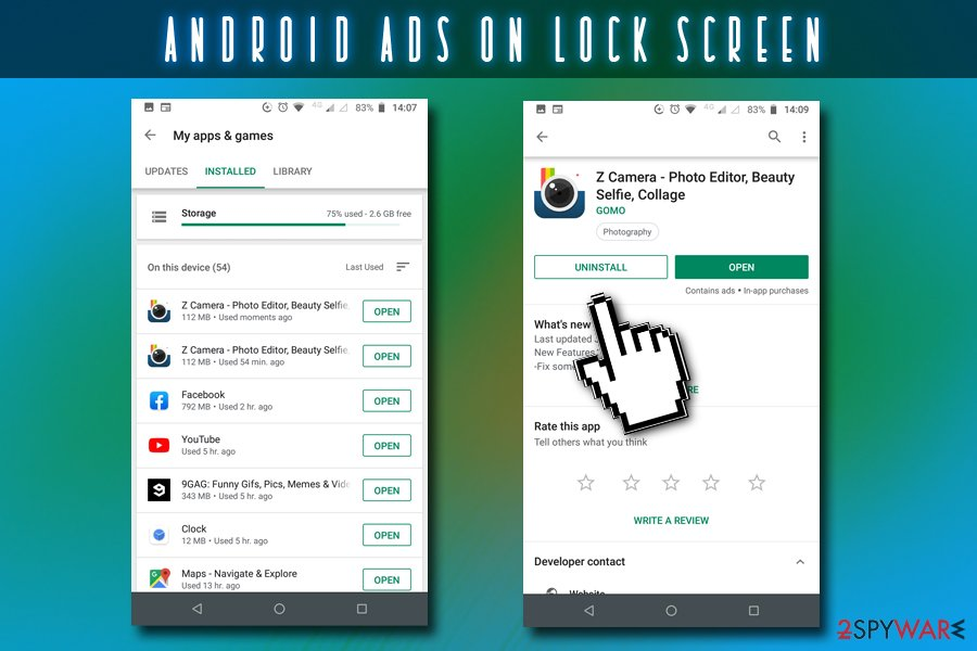 Android ads on lock screen removal guide
