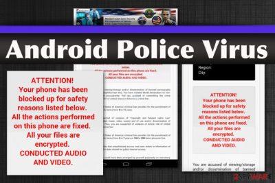 Android Police lockscreen virus