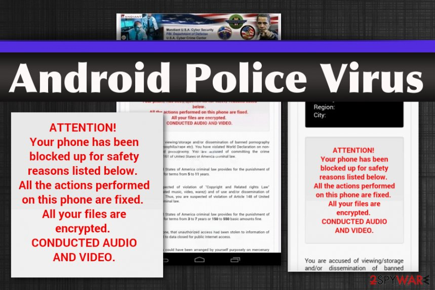 Android Police lockscreen virus