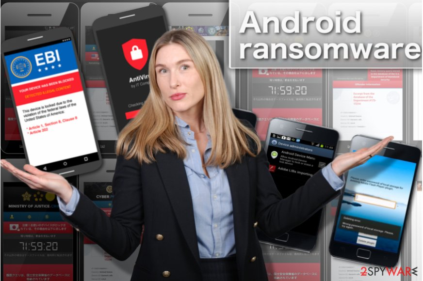 The illustration of different Android ransomware variants
