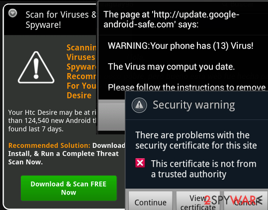 Android notification virus | Beware of mobile scareware ads which