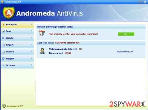 Andromeda AntiVirus snapshot