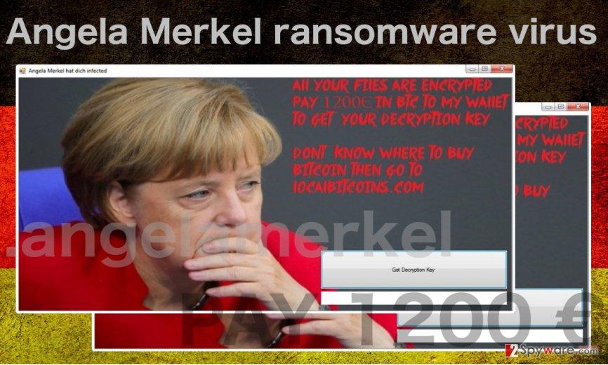 Illustration of Angela Merkel virus