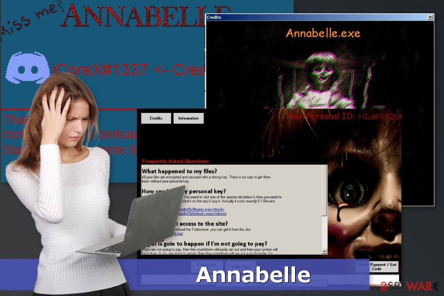 The picture of Annabelle ransomware