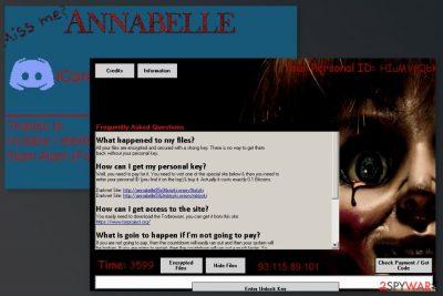 Annabelle ransomware virus image