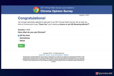 Screnshot of 2017 Annual Visitor Survey