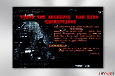 The image of AnonCrack ransom note