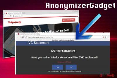 AnonymizerGadget ads