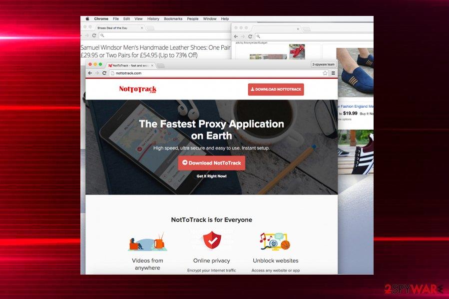 AnonymizerGadget pop-up ads