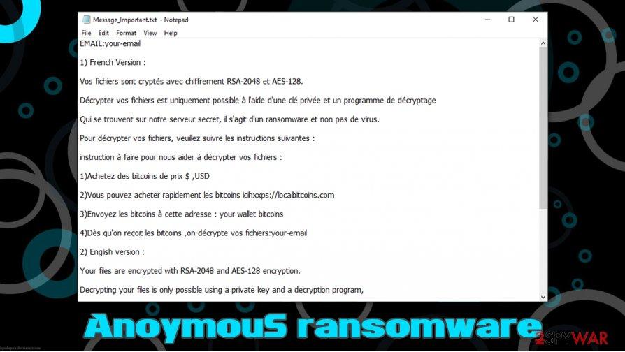 AnoymouS ransomware