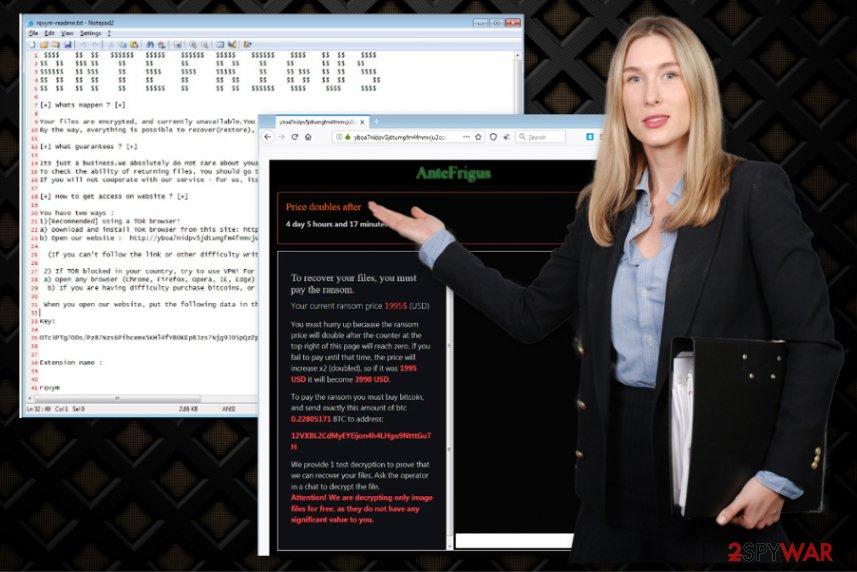 AnteFrigus cryptovirus