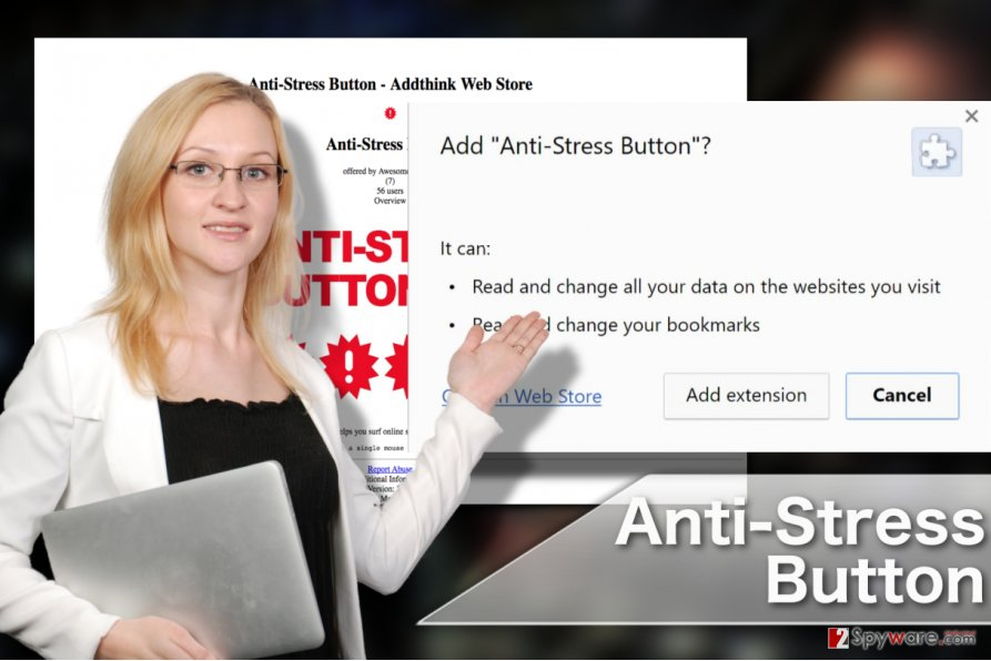 Image of the Anti-Stress Button extension virus