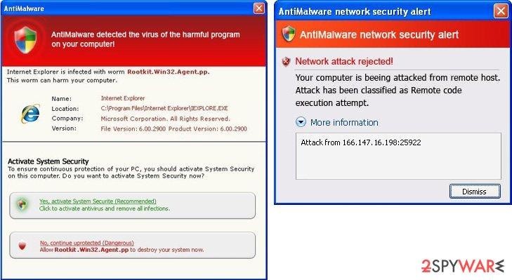 AntiMalware alerts