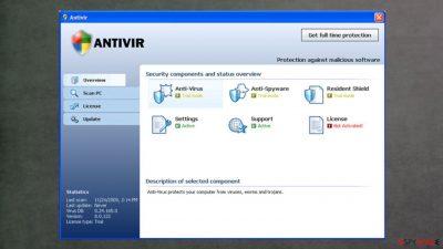 False anti-spyware Antivir