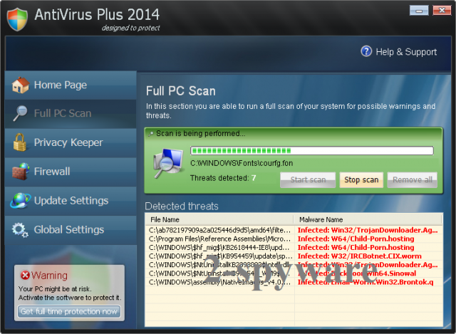 AntiVirus Plus 2014 snapshot